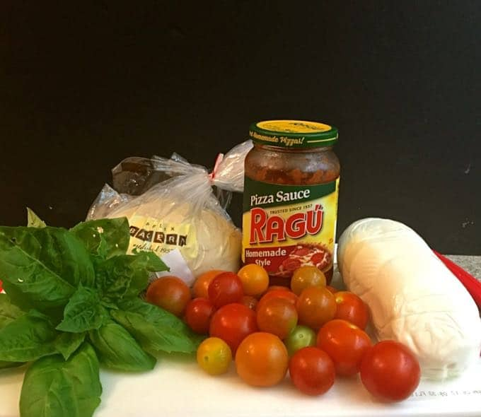 Rustic Roasted Cherry Tomato Pizza Ingredients
