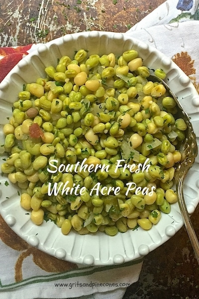 Southern Fresh White Acre Peas are a true Southern delicacy and one that brings to mind hot summer days and farmers markets overflowing with fresh vegetables.