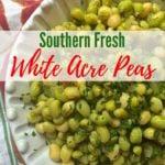Southern Fresh White Acre Peas Pinterest pin