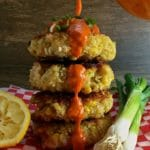 Southern Shrimp and Corn Fritters with Roasted Red Pepper Sauce