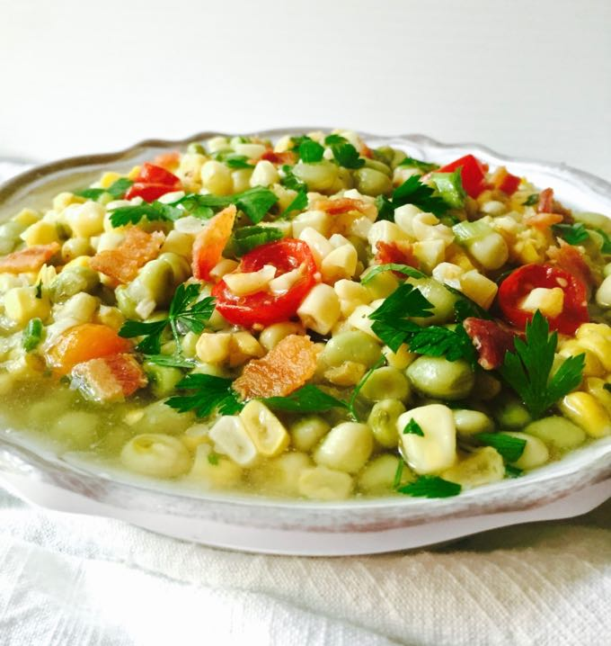 Southern White Acre Pea Succotash - summer goodness