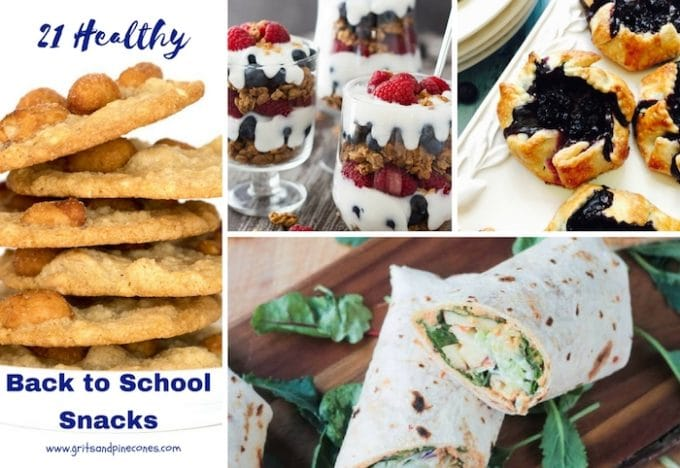 21 Healthy Back to School Snacks and Lunch Box Treats Social Media