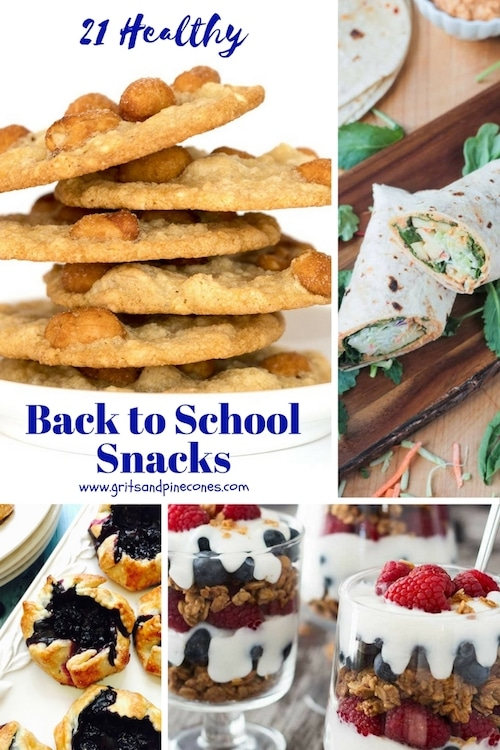 You are going to love these 21 easy, delicious and mostly make-ahead recipes for healthy lunch box treats and after school snacks for both big and little kids.