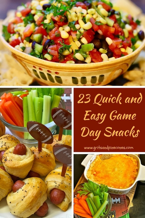 Whether you are tailgating with your friends, hosting a game day party, or watching the game on TV, these delicious touchdown worthy appetizers and snacks will help you score big!  #game day snacks, #tailgating snacks