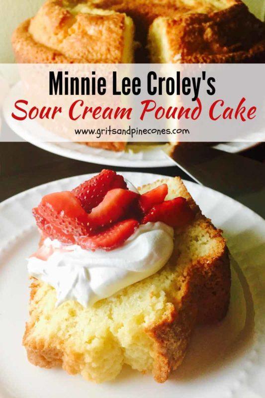 Sour cream pound cake pinterest pin.