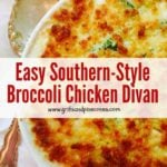 Broccoli Chicken Divan Pinterest Pin