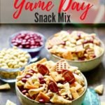 Easy Game Day Snack Mix Pinterest Pin