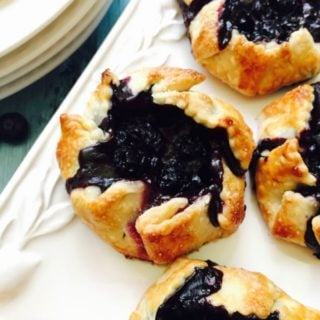 Easy Mini Blueberry Hand Pies ready for a back to school snack