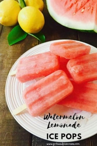 Easy Watermelon Lemonade Ice Pops