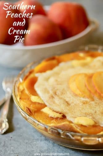 Southern Peaches and Cream Pie