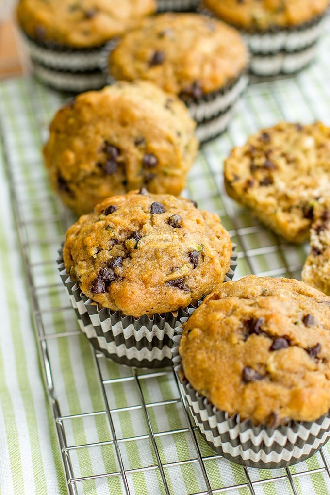 Wholesome Zucchini Chocolate Chip Muffins