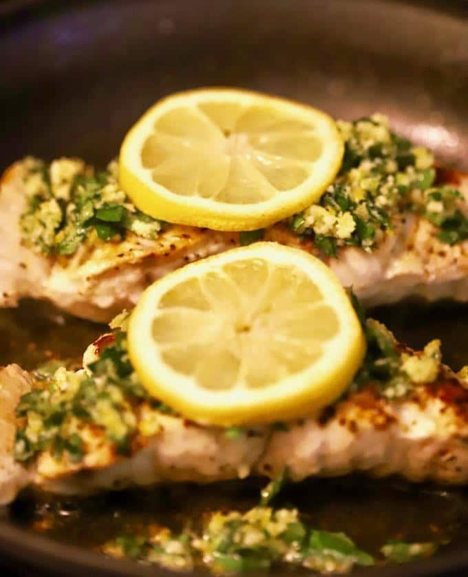 Delicious Pan Seared Grouper with Gremolata