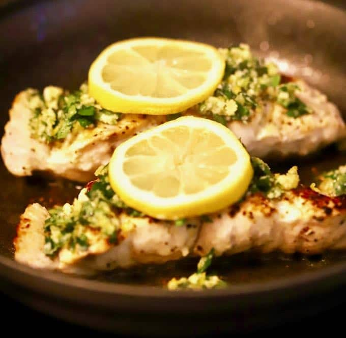 Healthy Pan Seared Grouper with Gremolata