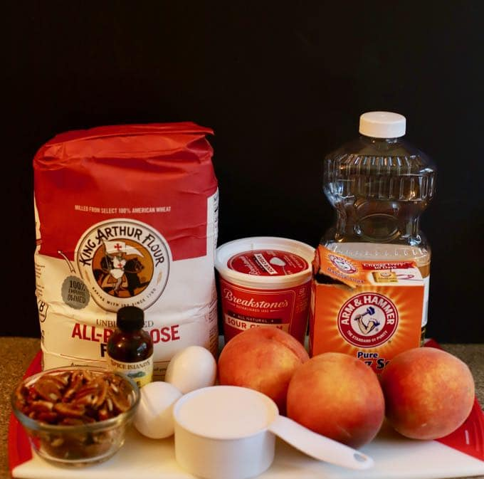 Easy Southern Fresh Peach Bread ingredients