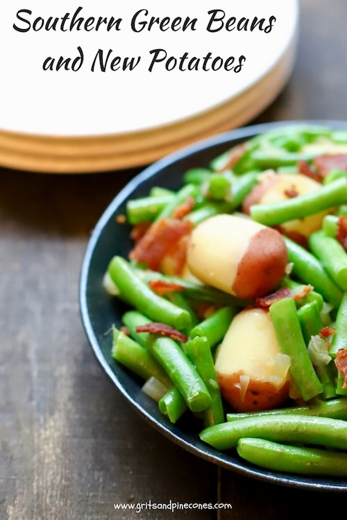 Southern Green Beans and New Potatoes is a delicious, healthy, quick and easy, vegetable side dish recipe with fresh, flavorful green beans and new potatoes.