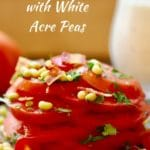 Tomato Salad with White Acre Peas
