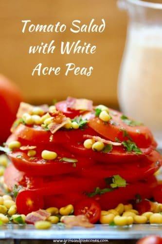 Tomato Salad with White Acre Peas