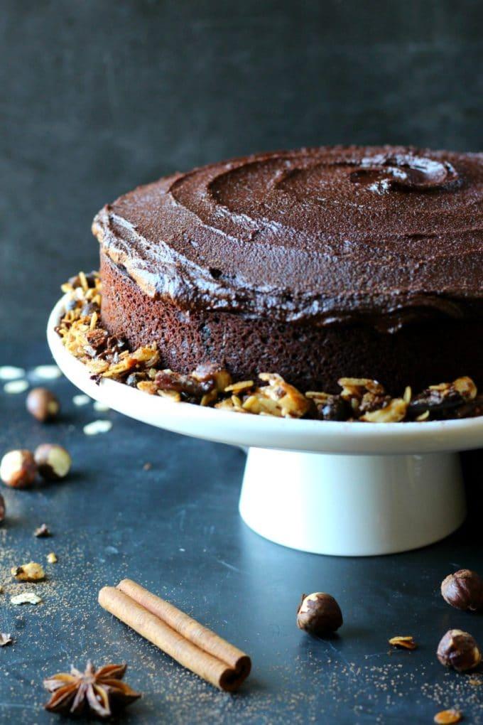 Chocolate Espresso Hazelnut Cake