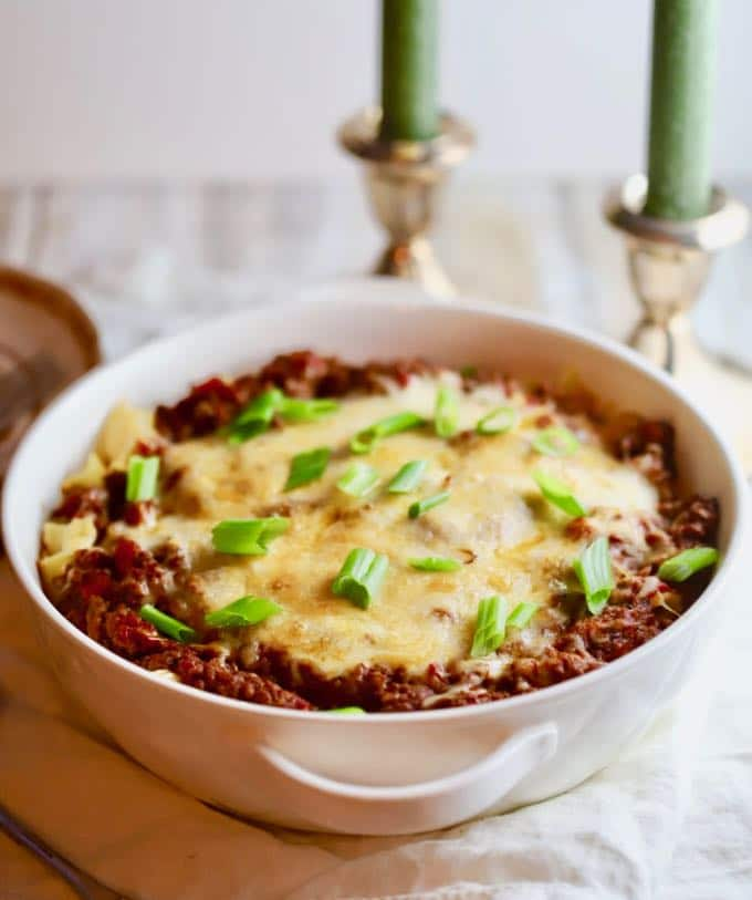 Freezer-friendly Easy Cheesy Ground Beef Casserole