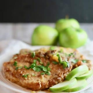 Easy Crockpot Pork Chops and Apples