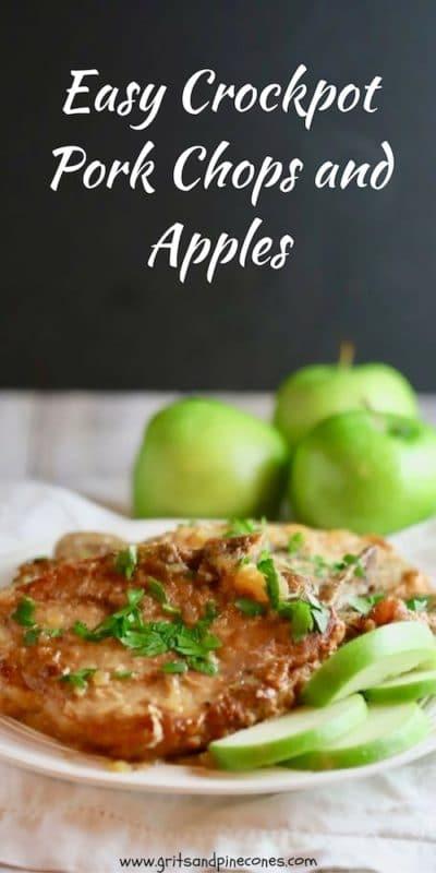 Easy Crockpot Pork Chops and Apples Pinterest