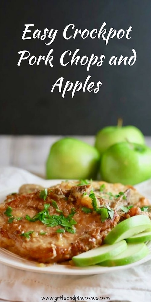 A fall favorite, Easy Crockpot Pork Chops and Apples are tender, juicy pork chops and sweet apples topped with brown sugar and cinnamon and cooked low and slow in the crockpot.