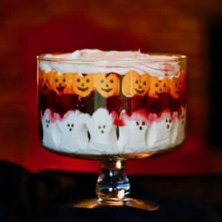 Spooktacularly delicious Easy Halloween Black Forest Trifle