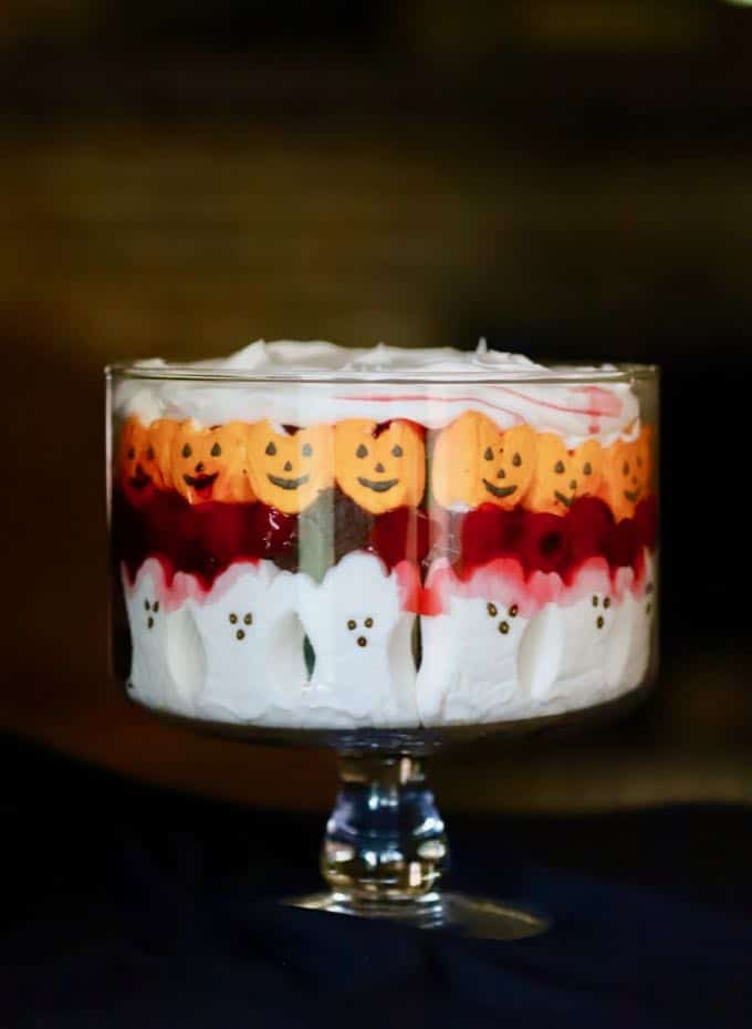 Delicious and Easy Halloween Black Forest Trifle Dessert