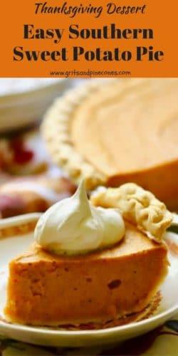 Easy Southern Sweet Potato Pie for Thanksgiving