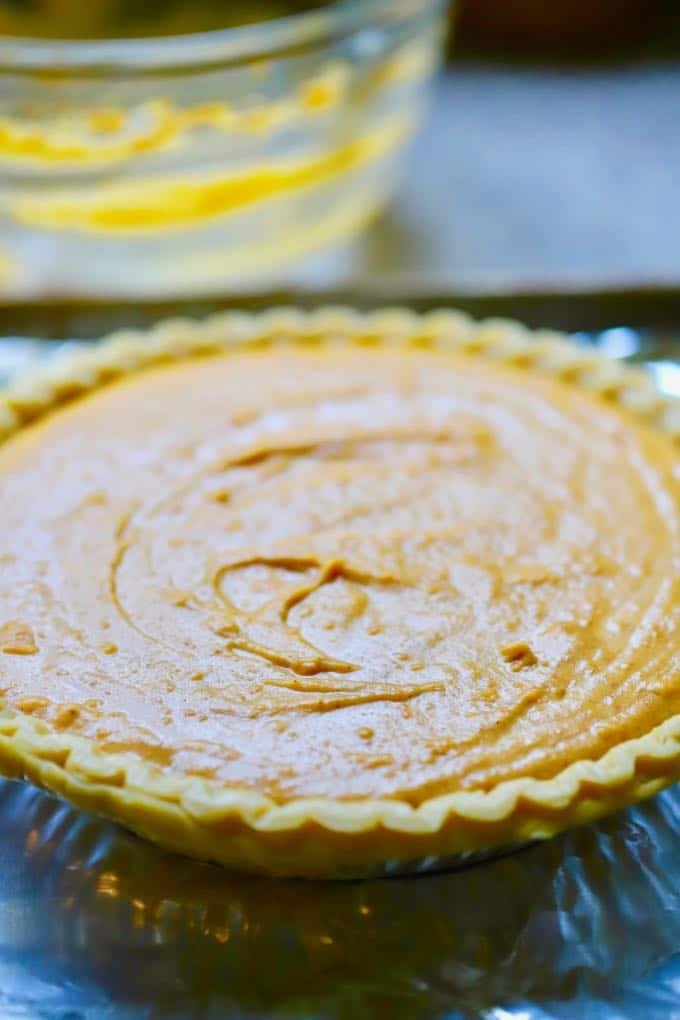 Easy Southern Sweet Potato Pie ready to bake