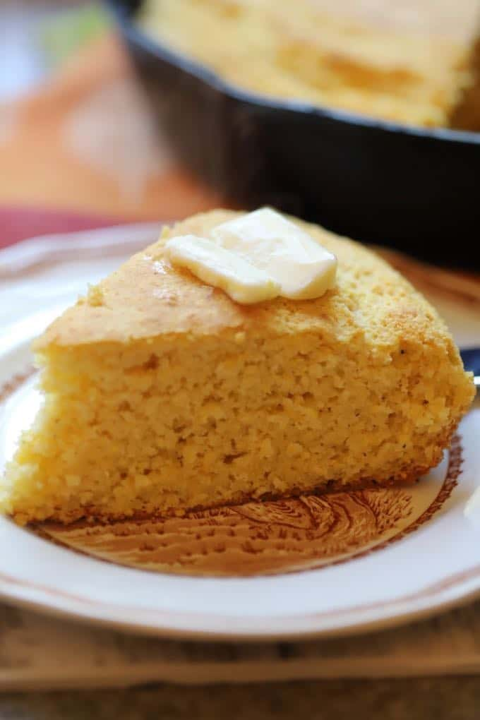 A piece of Traditional Southern Style Cornbread