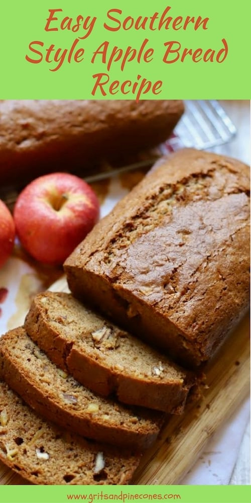 Easy Southern Style Apple Bread is the perfect dish to welcome fall. Crisp apples, pecans, and sour cream fill this luscious bread with pure deliciousness!