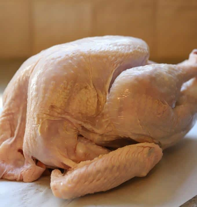 Raw turkey for Simple and Perfect Roast Turkey