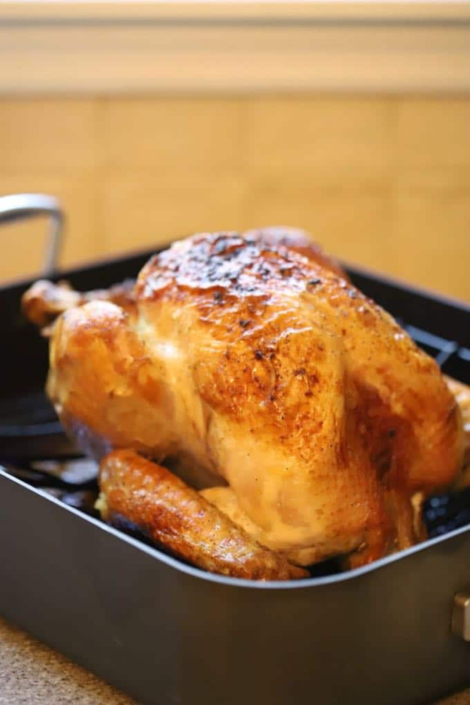 Simple and Perfect Roast Turkey right out of the oven