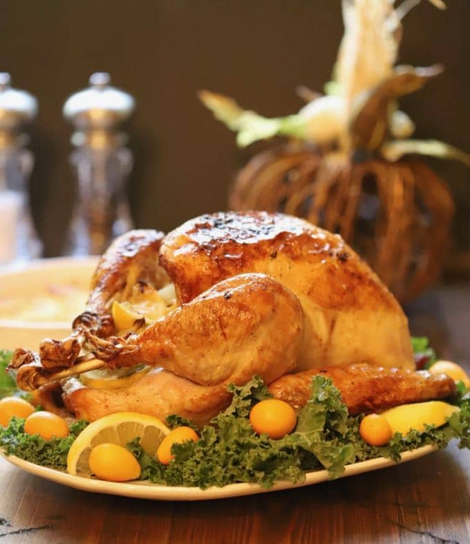 Simple and Perfect Roast Turkey ready to carve