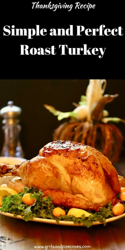 It's back to basics with an easy and classic Simple and Perfect Roast Turkey Recipe. This Thanksgiving superstar is moist and delicious and the stuff Thanksgiving dreams are made of.