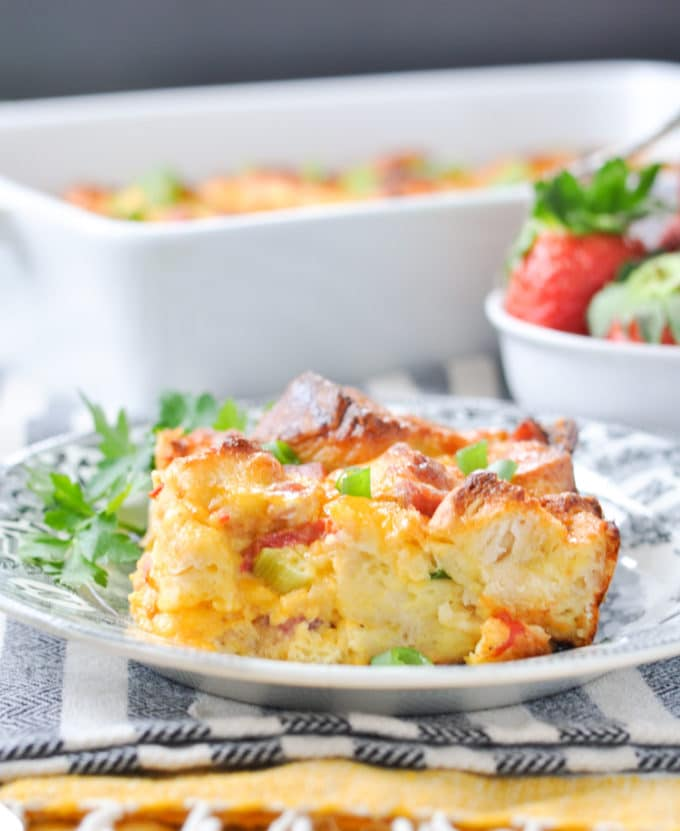 Overnight Southern Biscuit Ham and Egg Bake