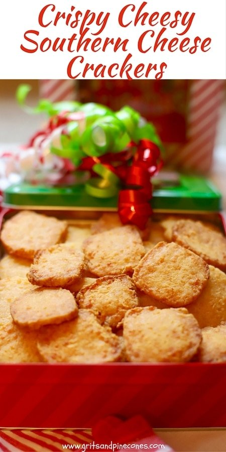 Crispy Cheese Southern Cheese Crackers are a party staple and true Southern delicacy! They are verything a cheddar cheese cracker should be: crispy, cheesy and utterly delectable!  Easy, delicious, make-ahead, freezable, and family friendly, and a must try!