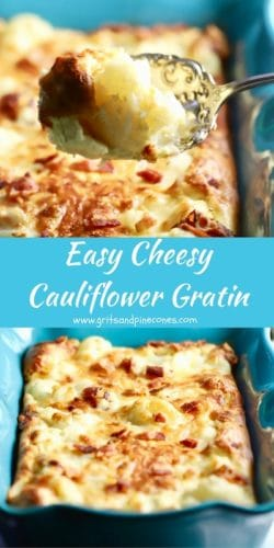 Easy Cheesy Cauliflower Gratin