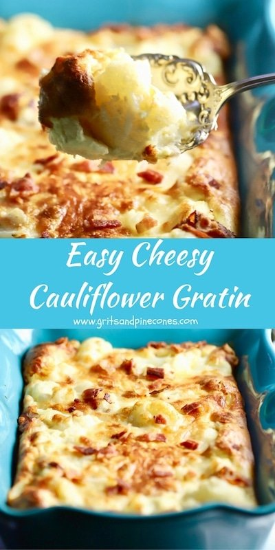 Easy Cheesy Cauliflower Gratin is the perfect low-carb side dish for Christmas dinner or anytime you want to treat your family or guests to a special dish!