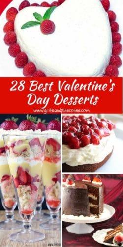 28 Best Valentine's Day Desserts Pinterest Pin