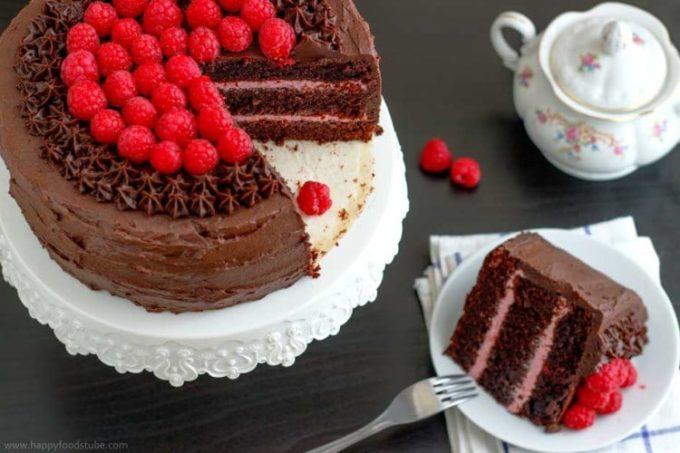 Red Wine Chocolate Raspberry Cake