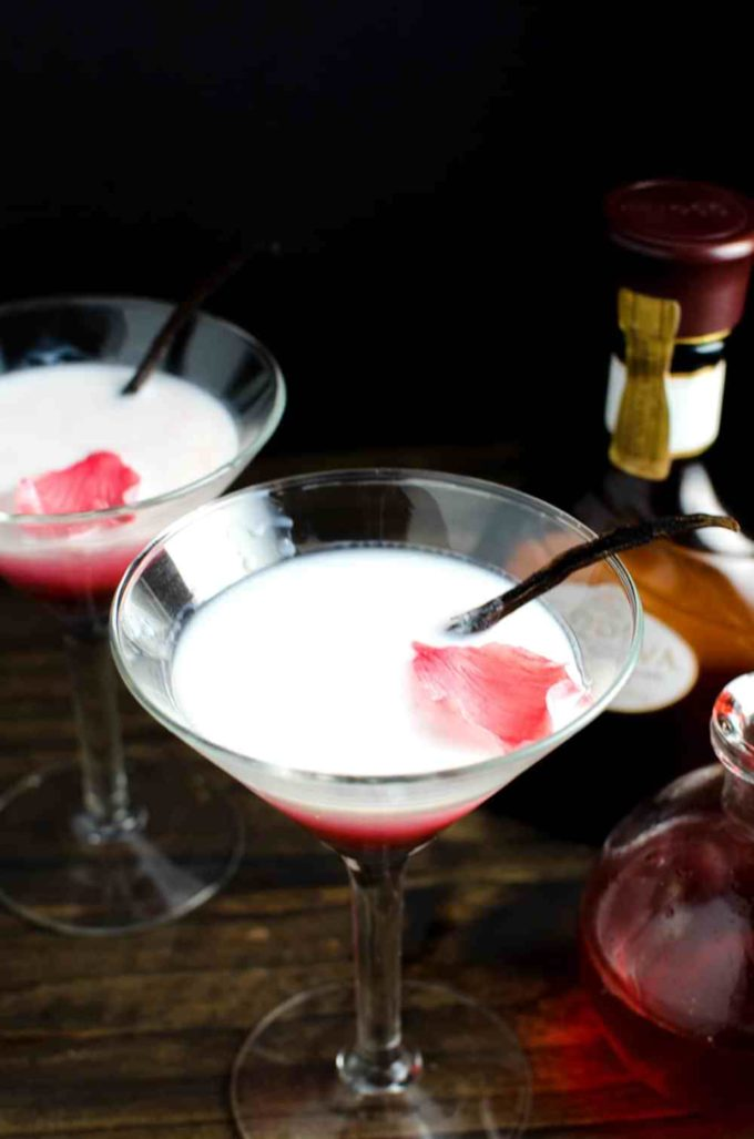 Rose and White Chocolate Cocktail