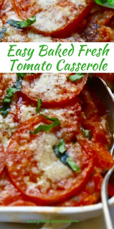 Easy Baked Fresh Tomato Casserole is a delicious and healthy, family-friendly, vegetable side-dish, which is full of fresh, flavorful, juicy tomatoes.