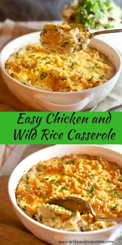 Easy Chicken and Wild Rice Casserole Pinterest