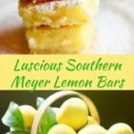 Luscious Southern Meyer Lemon Bars Pinterest Image