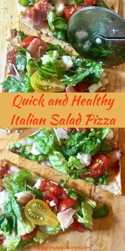 Quick and Healthy Italian Salad Pizza Pinterest