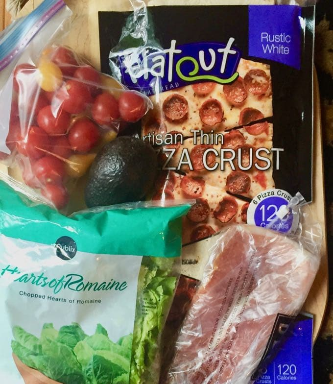 Quick and Healthy Italian Salad Pizza Ingredients