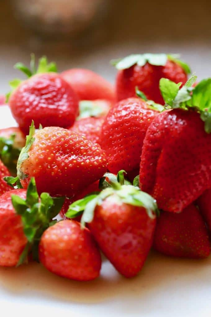 Fresh strawberries for Classic Southern Strawberry Shortcake
