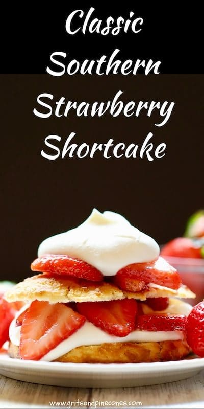 Classic Southern Strawberry Shortcake Pinterest pin